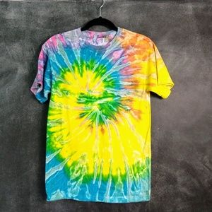 Tops - TIE DYE T-SHIRT   Rainbow Colored Size Small